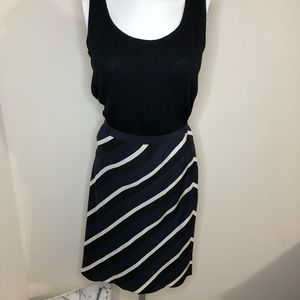 Banana Republic NWT Blue, White, Black Skirt